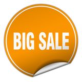 Big sale sticker. Big sale round sticker isolated on wite background. big sale Royalty Free Stock Photography