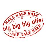 Big sale. Rubber stamp with text big sale inside,  illustration Royalty Free Stock Photography