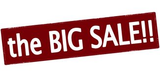 The big sale. Rubber stamp with text the big sale inside,  illustration Royalty Free Stock Images