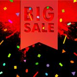 Big sale 02. Sale Banner with Place for Your Text. Vector Illustration clip-art Royalty Free Illustration