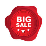 Big sale seal. Over white background vector illustration Royalty Free Stock Photography