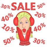 Big sale. seasonal discounts.2 Royalty Free Stock Image