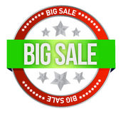 Big sale sell online at web shop. Illustration design over white Stock Photography