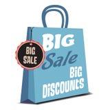 Big sale shopping bag Stock Image