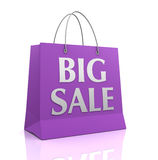 Big sale shopping bag concept  3d illustration Royalty Free Stock Photo