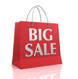 Big sale shopping bag 3d illustration Stock Images