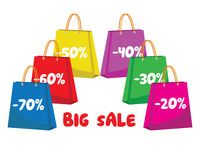 Big sale shopping bag Stock Image