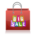 Big sale shopping bag illustration design Royalty Free Stock Images