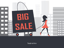 Big sale shopping bag Royalty Free Stock Photos