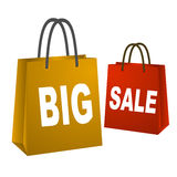 Big sale shopping bags Stock Images