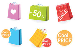 Big sale! Shopping bags. Royalty Free Stock Images