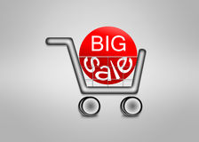 Big sale in shopping cart Royalty Free Stock Photography