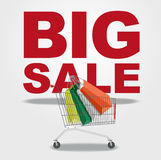 Big sale and shopping cart Stock Image