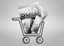 Big sale in shopping cart Royalty Free Stock Image