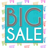 Big Sale Shopping Cart Texture Royalty Free Stock Photography