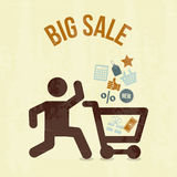 Big sale shopping Royalty Free Stock Photos