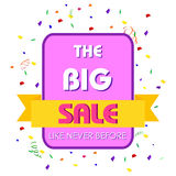 Big Sale Shopping Promotion Poster Royalty Free Stock Photos