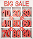 Big Sale Showcase Royalty Free Stock Images