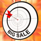 Big Sale Shows Discount And Cheap Pricing Royalty Free Stock Image