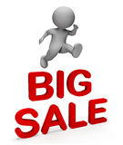 Big Sale Shows Reduction Closeout And Display 3d Rendering. Big Sale Meaning Savings Clearance And Character 3d Rendering Royalty Free Stock Photos