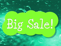Big Sale Shows Save Clearance And Promotional Stock Photo