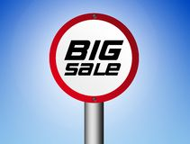 Big sale sign Royalty Free Stock Image