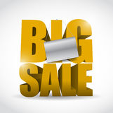 Big sale sign and banner illustration design Stock Images