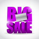 Big sale sign and banner illustration design Royalty Free Stock Image