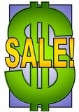 Big Sale Sign Dollar Symbol royalty free stock image