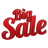 Big sale sign isolated (vector icon). Royalty Free Stock Photo