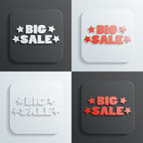 Big sale sign vector Stock Photography