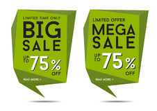 Big Sale Signs. Illustration of big sale signs Stock Photo