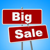 Big Sale Signs Indicates Offer Save And Promotion Royalty Free Stock Image