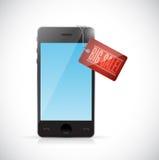 big sale smartphone tag illustration Stock Photo