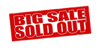 Big sale sold out. Stamp with text big sale sold out inside,  illustration Royalty Free Stock Image