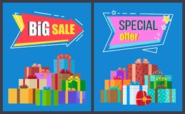 Big Sale Special Offer Arrow Shape Label Sticker Royalty Free Stock Photo