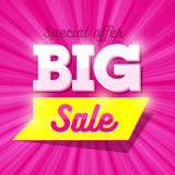 Big Sale special offer banner Stock Photo