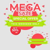 Big Sale Special Offer best price Tag banner mega sale. High Resoulution, High Quality ,300 Dpi Royalty Free Stock Photo