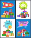 Big Sale Special Offer Best Prices Discount Labels Stock Image
