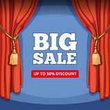 Big sale, special offer vector background for Royalty Free Stock Images