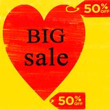 Big Sale 50% Special Offer Vector Template Design royalty free illustration