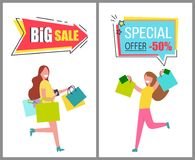 Big Sale and Special Offer Only For Womens Goods Royalty Free Stock Photos