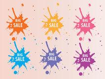 Big Sale Splash Backround Stock Photos