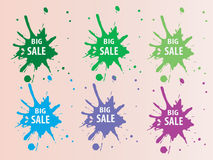 Big Sale Splash Backround Stock Images