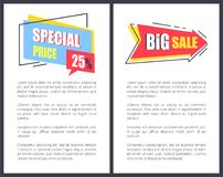 Big Sale with Sppecial Price Promotional Posters Royalty Free Stock Photos