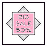 BIG SALE square banner. Fashion modern style. Geometric design. Stock Photos