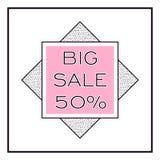 BIG SALE square banner. Fashion modern style. Geometric design. Stock Photos