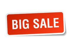 Big sale sticker. Big sale square sticker isolated on white background. big sale Royalty Free Stock Photo