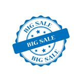 Big sale stamp illustration. Big sale blue stamp seal illustration design Royalty Free Stock Images