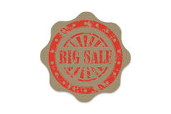 Big sale stamp on paper Stock Photo
